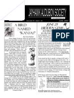 June 2007 Jayhawk Audubon Society Newsletter