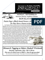 September 2007 Jayhawk Audubon Society Newsletter