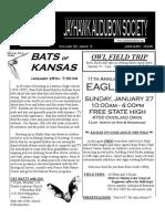 January 2008 Jayhawk Audubon Society Newsletter