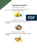Trabalenguas de Frutas