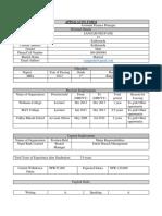 Nwedc Applicaton Form