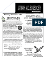 November 2008 Jayhawk Audubon Society Newsletter