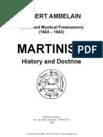 History of Martinism--Robert Ambelain