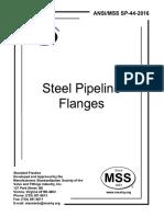 MSS SP-44-2016 Steel Pipeline Flanges