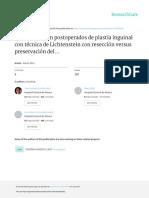 Inguinodinia en Postoperados de Plastia Inguinal c