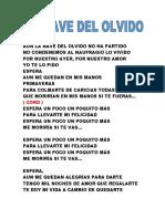 La Nave Del Olvido Letra
