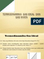 Termodinamika gas ideal dan gas nyata