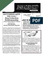 September 2006 Jayhawk Audubon Society Newsletter