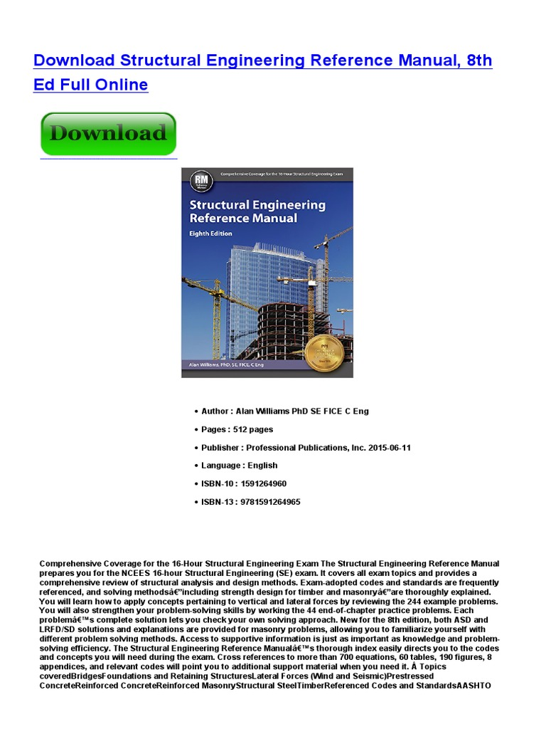 Structural Engineering Pdf E Books Engineering