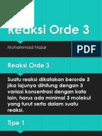 Reaksi Orde3
