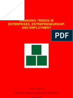 Changing Trends in Enterprises,  Entrepreneurship, and Employment