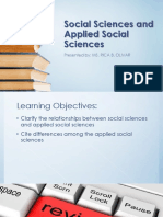 Social Sciences and Applied Social Sciences