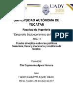 ADA10 Falcon Oscar Cuadro sinóptico sobre las políticas financiera, fiscal y monetaria y crediticia de México