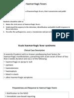 Haemorrhagic Fevers (Notes)