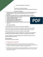 1 Research Methodology
