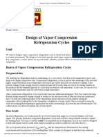 Design of Vapor-Compression Refrigeration Cycles