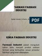 Kimia Farmasi Industri