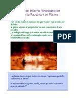 Las Penas Del Infierno Reveladas Por Jesús a Santa Faustina y en Fátima