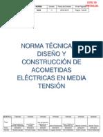 N044 Norma Tecnica de Diseno de Acometidas Electricas en MT