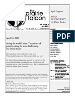 April 2001 Prairie Falcon Northern Flint Hills Audubon Society