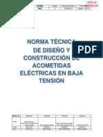 N042 Norma Técnica de Diseño y Construccion de Acometidas Electricas en Baja Tension