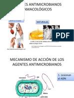 AGENTES ANTIMICROBIANOS FAMACOLÓGICOS