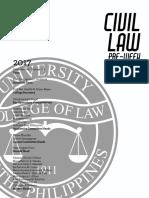 UP Civil Law Preweek 2018