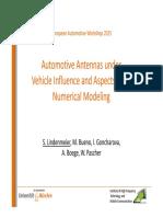 Automotive Antennas Vehicle Influence Aspects Numerical Modeling