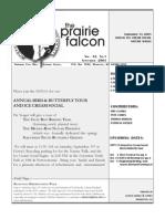 Sept 2003 Prairie Falcon Northern Flint Hills Audubon Society