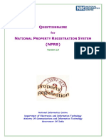 Questionnaire for National Property Registration System (NPRS) 3-Feb-2016