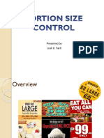 Portion size in Nutritional assessment
