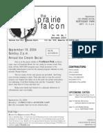 September 2004 Prairie Falcon Northern Flint Hills Audubon Society