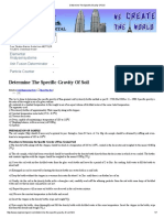 Determine the Specific Gravity of Soil
