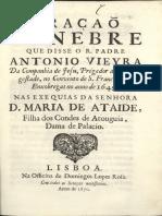 Oraçao funebre 1650