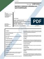 NBR-8063- Sistema de Impermeabilização
