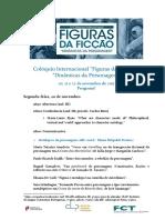 """Programa 5.º Congresso Internacional """"Figuras da Ficção"""""""