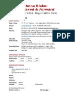Anna Blake Registration Form