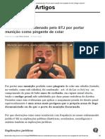 STF Absolve Condenado Pelo STJ Por Portar Munição Como Pingente de Colar  Artigos Jusbrasil