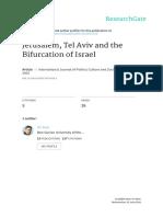 Jerusalem Tel Aviv and the Bifurcation of Israel