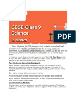 Class 9 Science NCERT Solutions - Is Matter Around Us Pure