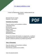 Temario Extensiones Pestanas Tinte Permanente