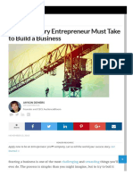 50 Steps Every Entrepreneur Must Take to Build a Business