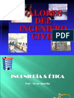 Valores Del Ingeniero Civil Clase 4