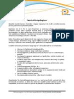 Electrical Design Engineer Website Description