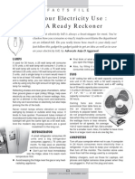 Electricity - Ready Reckoner