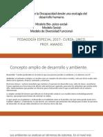 Discapacidad, Ecología, Modelos Biopsicosocial y Diversidad Funcional