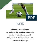 AVIZ1 fotbal