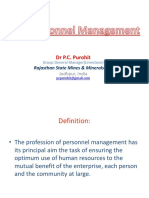 Personnel Management & Production Management
