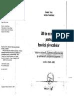 Documents.tips 700 de Exercitii Pentru Fonetica Si Vocabular Carmen Pavel Gratiela Dumitrache