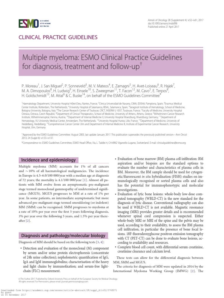 multiple myeloma pdf | Multiple Myeloma | Clinical Medicine